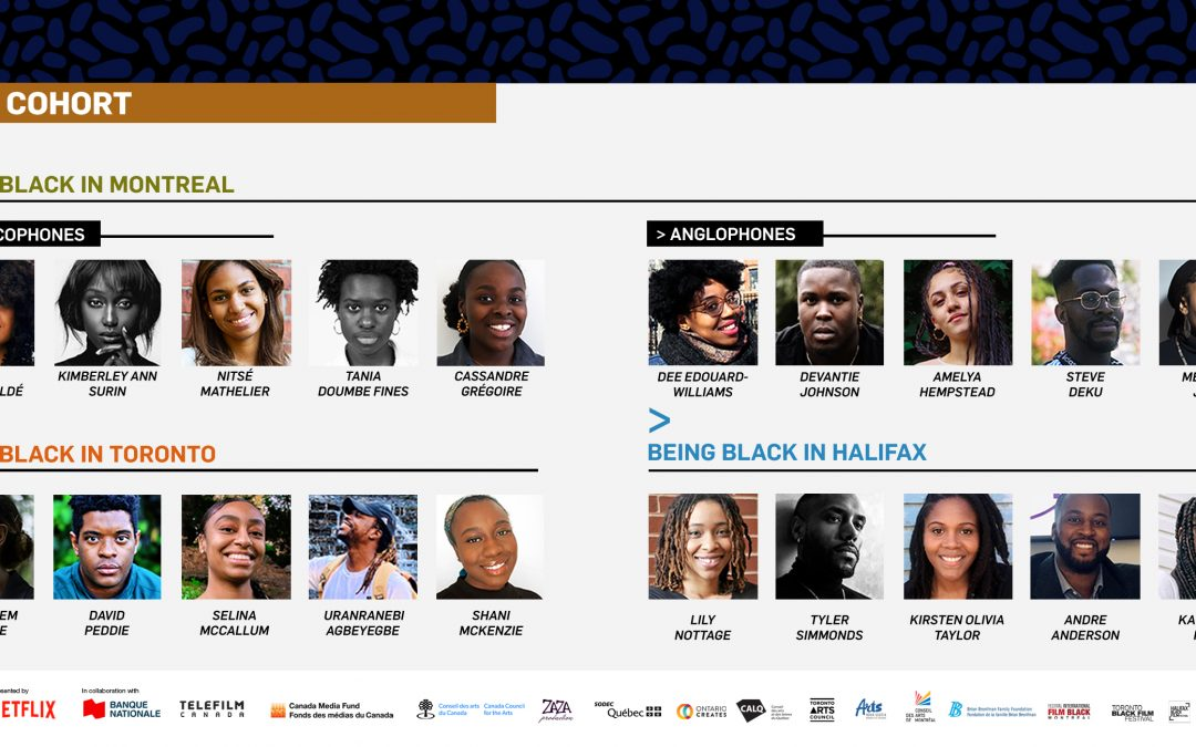 The Fabienne Colas Foundation's BEING BLACK IN CANADA Program, presented by NETFLIX, in collaboration with the NATIONAL BANK, unveils its 2020 PARTICIPANTS